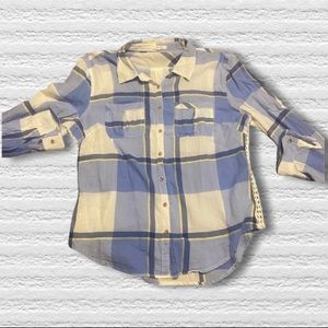Maurices plaid button up shirt large